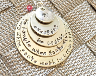 Cancer Necklace, Inspirational Necklace, Cancer  Be Strong When You Are Weak Be Brave When You Are Scared Be Humble When You Are Victorious