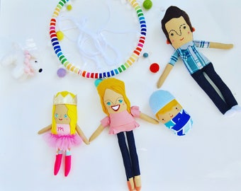 The Sweetest Family Custom Hanging Mobile // Custom, personalized hanging 3-D art makes a great birthday or anniversary gift