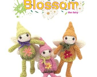 Crochet/Amigurumi pattern toy - Blossom the fairy