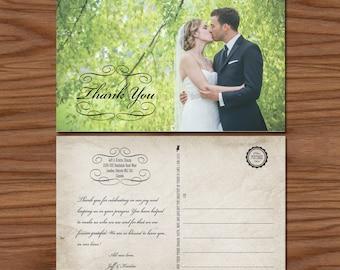 Printable Rustic Wedding Thank You Card