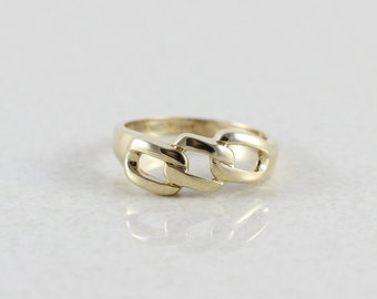 10k Yellow Gold Link Ring Band Size 6