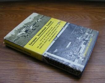 Vintage book European International Football Gordon Jeffery 1963 Hardback 1st edition soccer book match summaries results in one volume 37