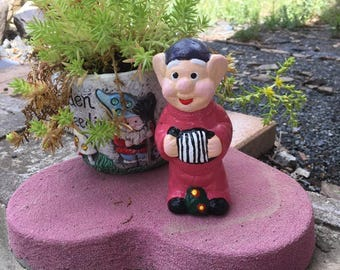 Little Gnome with Accordian