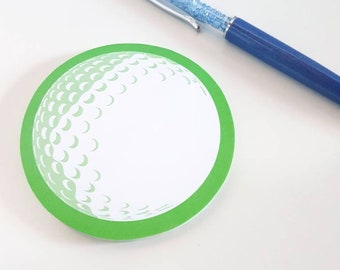 Golf Ball Green Sticky Post-It Note Pad