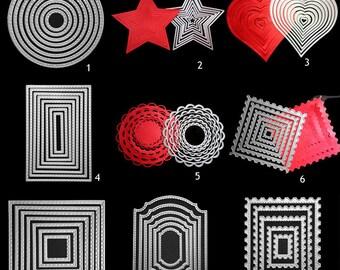 Memory Box cutting dies Stitched Frames metal die set scrapbooking cardmaking
