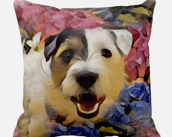 Custom Pet Pillow Or Giclee Print by Tim Campbell Great Gift Idea For Any Pet Person