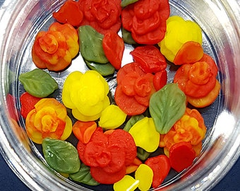 Nail charms Flat Roses set