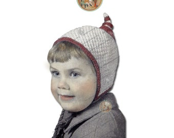 Pixie Gnome Dwarf Hat Knitting Pattern for Babies & Toddlers from 2 Months - 2 Years - Instant Download PDF - PrettyPatternsPlease