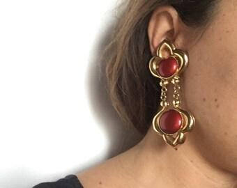 Vintage years 80 new pendant earrings in three colors