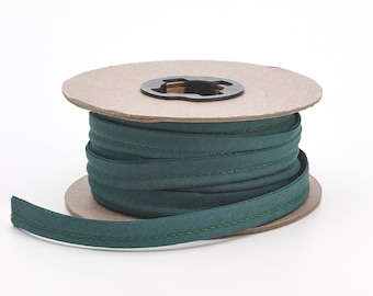 """Broadcloth cord piping, 1/2"""" Wide, 15 yds, Hunter green"""