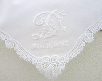 Personalized Handkerchief, Wedding Hankie, Personalized Wedding Handkerchief, Monogrammed Handkerchief