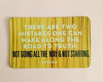 There are two mistakes... - Buddha Quote Magnet
