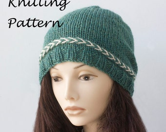 Hat Knitting Pattern, Latvian Braid Pattern, Knit Hat Pattern, Beanie PDF Pattern, Instant Download