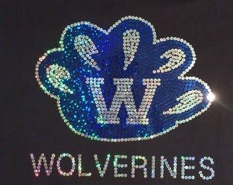 Willowbrook Wolverines Spirit Wear Sequins Shirt