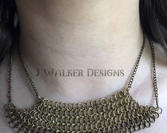 Gold Chainmail Necklace