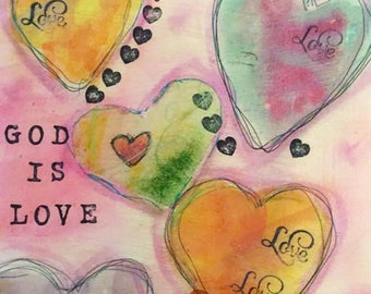 God is Love Notecards (set of 6 folded cards with envelopes in a clear box)