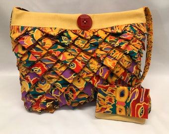 Funky Prairie Point Fabric Purse & Wallet