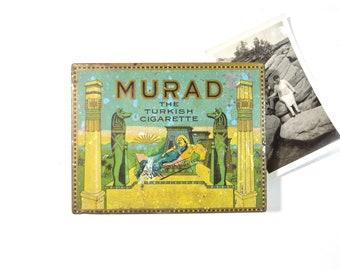 Vintage Murad Turkish Cigarette Tobacco Tin Box
