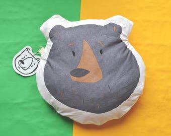 Black Bear Cushion Handmade