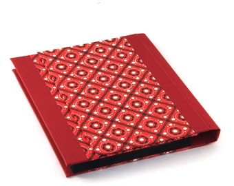 Accordion Folder - Memo Pocket red black pinny pattern