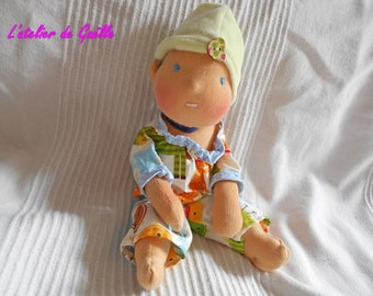 Baby Waldorf 30 cm doll 100% eco-friendly, natural fabric, environmental, organic doll, natural fibers