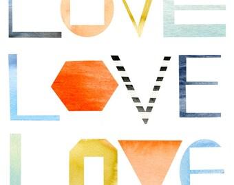 Love x 3 Archival Print by Lindsay Gardner