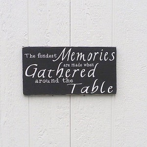 Dining Room Sign Rustic The Fondest Memories Are Made When Gathered Around Table