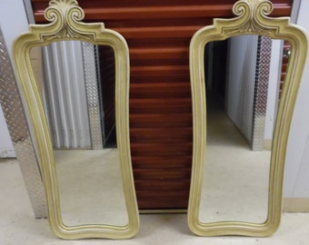 MIRROR MIRROR! / Pair Super Tall French Provincial Mirrors / Over 4 Feet Tall / Paris Apt / Perfect To Paint