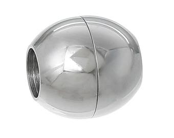 10 stainless steel Magnet close/magnetic closures, round, 13 x 13 mm