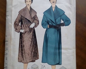 "1950s Coat - 36""-38"" Bust - Advance A59 - Vintage Sewing Pattern"