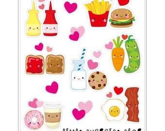 Foody Buddies Stickers // F008