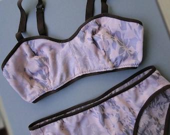 Blush sheer bralette - custom handmade