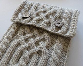 Knitting Pattern - Celtic Mini Tablet Case