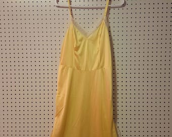 Vintage Yellow Slip and dress
