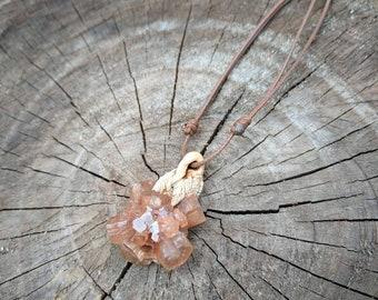 Natural Crystal pendant - Aragonite