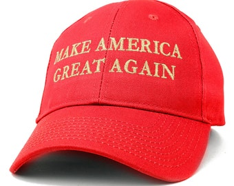 Made in USA Donald Trump Structured Cotton Cap - Make America Great Again in METALLIC GOLD