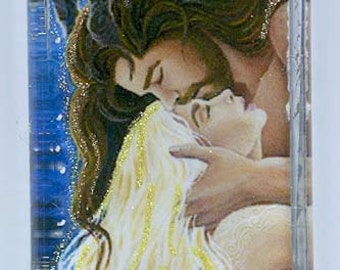 Cernunnos and the Moon Goddess Pendant