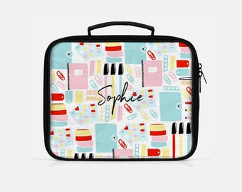 Personalized Lunch Box, Cute Lunch Box, Personalized Teacher Gift, Teacher Appreciation Gift, Teacher Lunch Box, Retro Lunch Box,