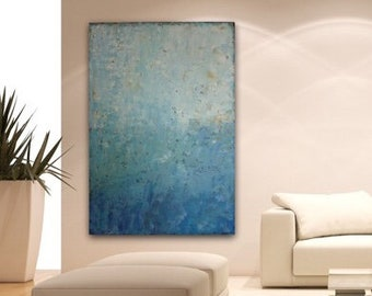 Large Abstract Painting Canvas Art Wall Art Blue Large  Sea Painting Textured Painting Original Painting by Sonja Alfreider