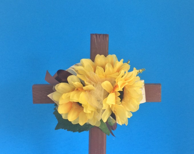 Cemetery cross, grave decoration, memorial cross, Floral Memorial, cemetery flowers, memorial cross, grave decoration