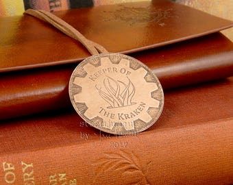 Keeper Of The Kraken steampunk brooch, steampunk jewellery, achievement badge, steampunk badge, kraken jewellery, fantasy jewellery, LARP