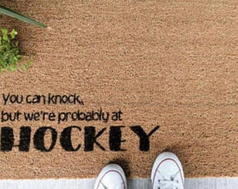 Hockey welcome mat
