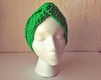 Turban Style Headband/ Crocheted Ear Warmer/ Gifts For Her