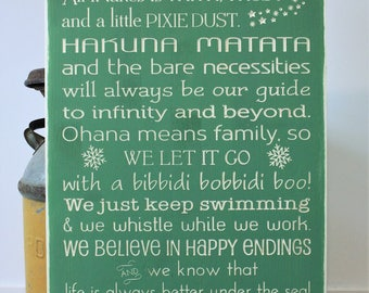PERSONALIZED Disney Rules with Last Name We Do Disney In This House Rules Family Rules Rustic Wood Sign - 16x30 Carved Disney Rules Sign