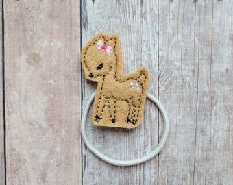 Deer Accessory, Embroidered Beige Felt, Choice of Headband, Pin, Magnet, Hair Clip, Ponytail, Shoe Clip, Woodland Animal Clip, Made in US