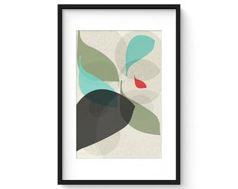 FLOW no.26 - Giclee Print - Mid Century Modern Danish Modern Style Minimalist Modernist Eames Abstract