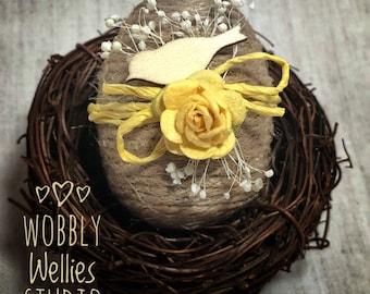 Easter egg ornament, Easter decorations, Easter basket, bird, Easter tree, dried flowers, bird nest, favor, Easter gift, basket filler,party