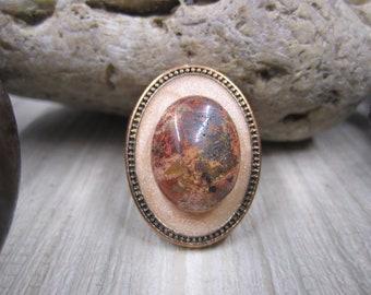 Intricate Jasper Vintage Stratement Ring