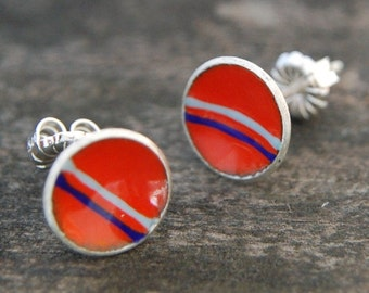 stripes enamel earrings