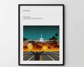 DIE HARD 2 Movie Poster - Movie Art Poster, Movie Print, Film Poster, Film Print